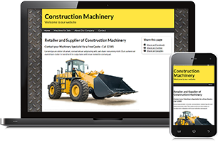 Machinery website example